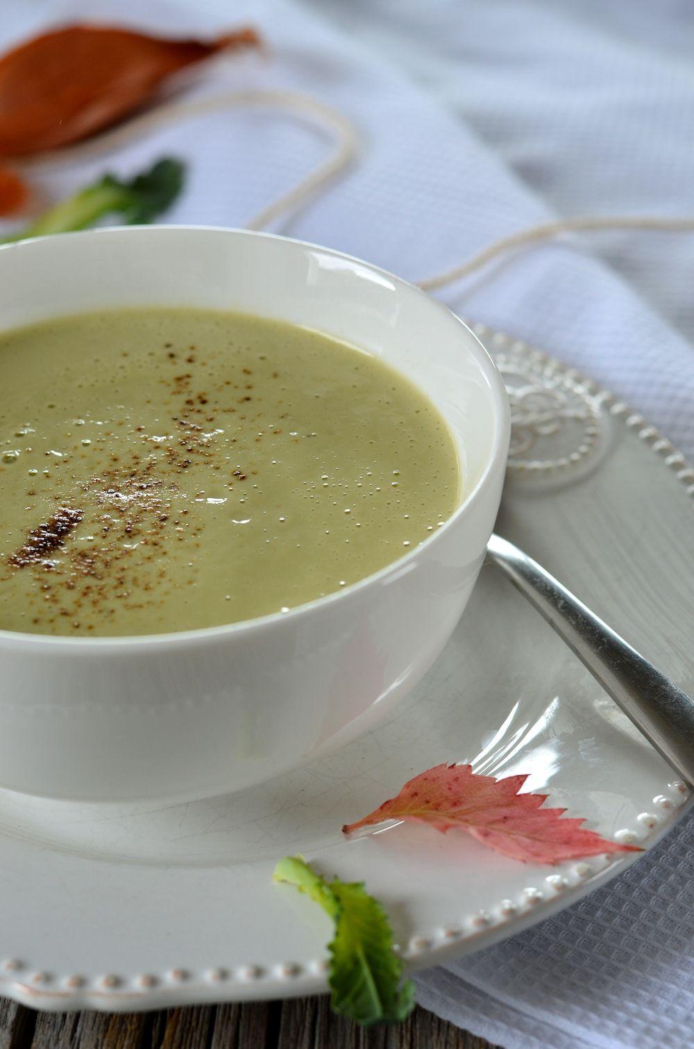 Velouté de brocolis et fromage frais | Recette | Brocoli
