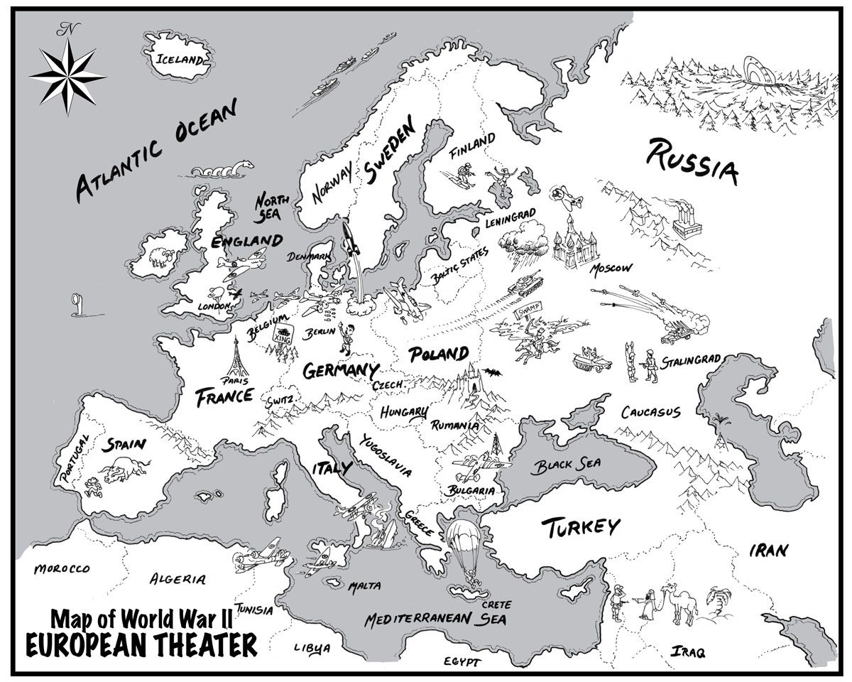 printable map of europe wwii World War Two Air Combat | Wwii maps, Europe map, History education