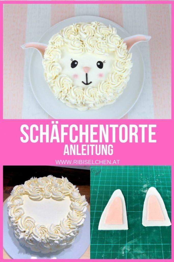 Schafchen Torte Anleitung Fur Eine Einfache Und Sehr Susse Torte Kuchen Baby Geburtstag Torten Kindergeburtstag Madchen Baby Kuchen