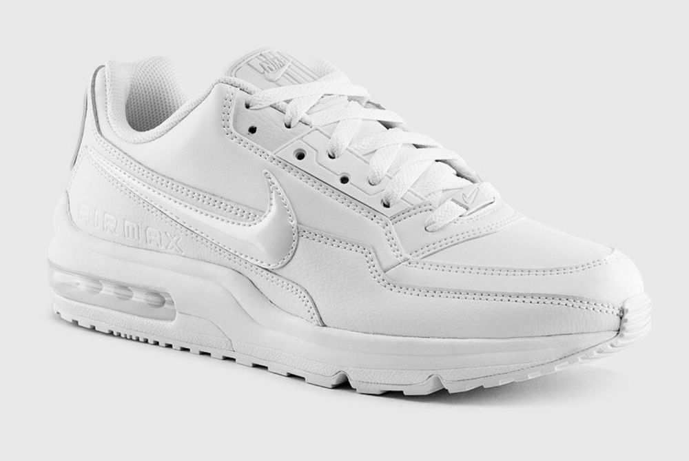 hot sale online eacad 1dc83 Nike Air Max LTD 3 Mens 687974-100 Wright White Leather Running Shoe Size  17…