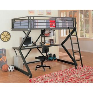 Fun Top Bunk Bed With Desk On Bottom