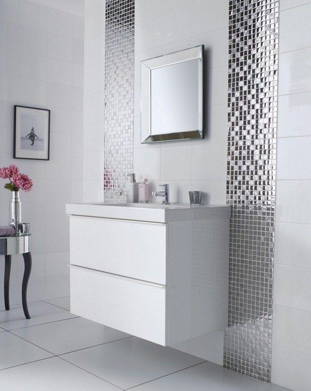 Carrelage salle de bains u2013 34 idées avec la belle mosaïque - mosaique rose salle de bain