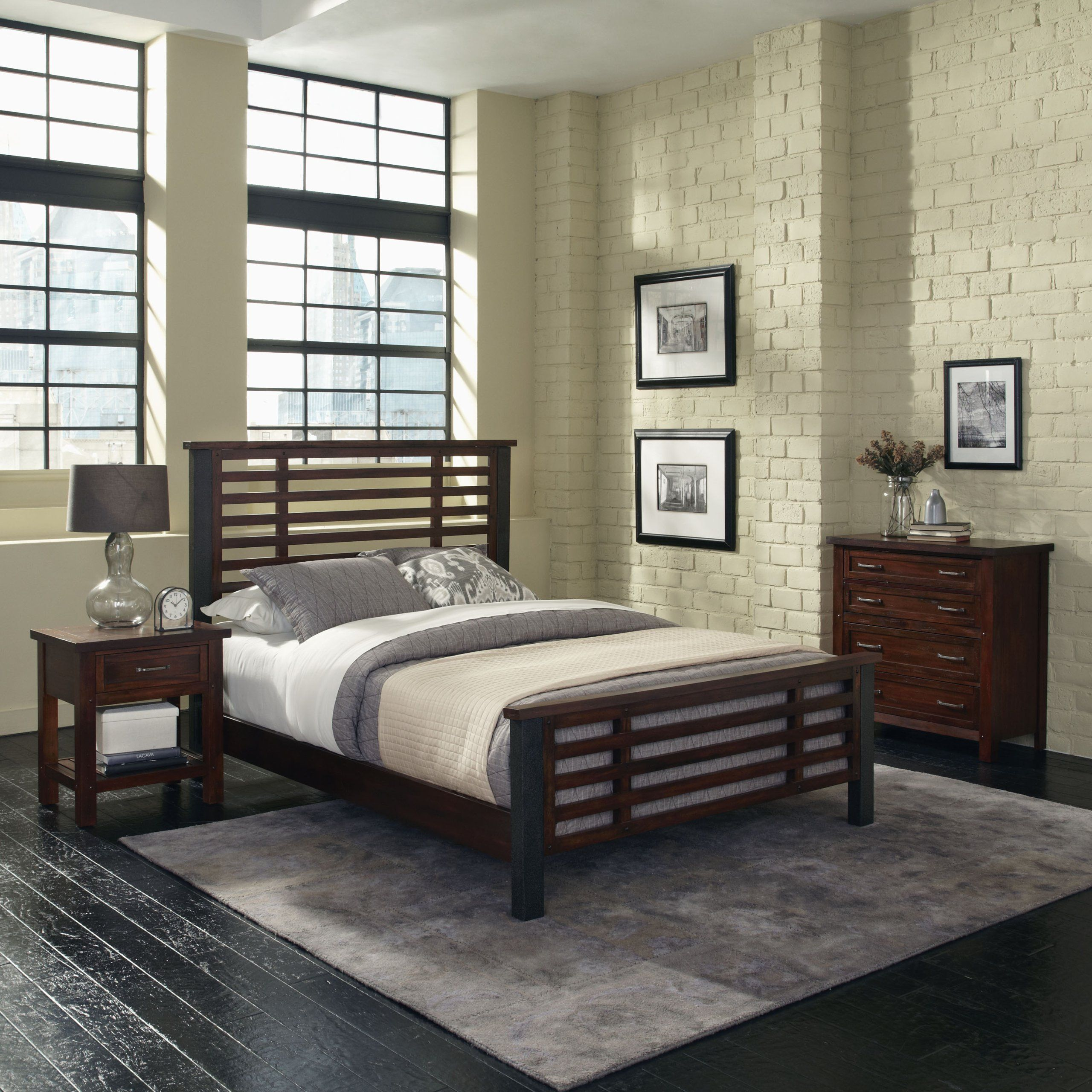 Home Styles Cabin Creek King Bed Night Stand And Chest