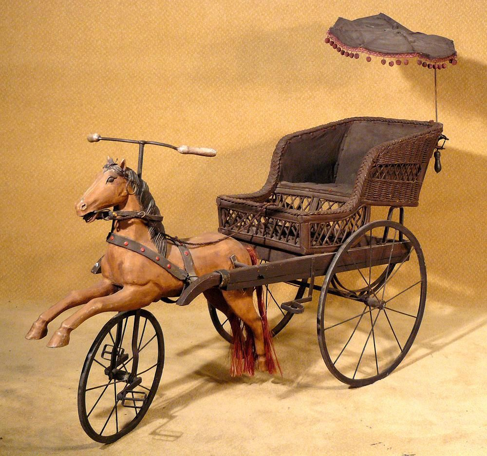 Victorian Children S Horse Carriage Bicycle Horse Buggy Rickshaw Victorian Toys Antique Rocking Horse Horse Carriage