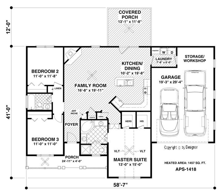 1457 sq ft Main Level Floor Plan image of The Westfield ... Ranch House Floor Plans No Garage on house plans with no garage, ranch house designs, duplex house plans with garage, ranch homes with side garage, ranch house plans no dining room, ranch house blueprints, living room in modern car garage, open house plans with garage, rancher house plans side garage, ranch home with no garage, basement garage, bungalow house plans with garage, ranch house cabin,