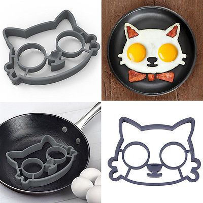 Hello Kitty Silicone Fried Egg Mold Egg Shaper Cat Ring Funny Side Kitchen Tools
