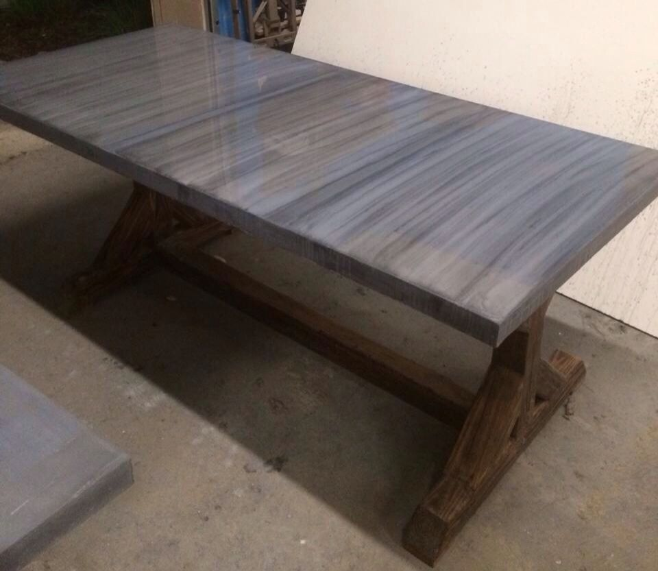 Concrete and Wood Table Top