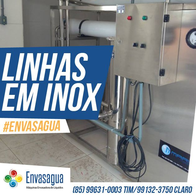 Linhas em Inox! #Envasagua #Inox  Em breve nosso site: envasagua.com.br