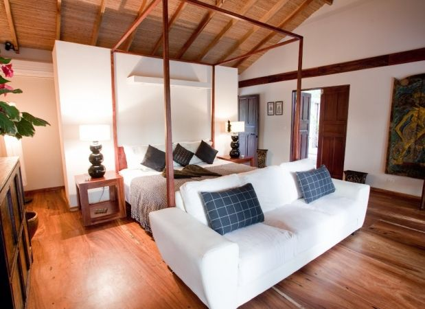One of the 8 bedrooms in this luxury surf house http
