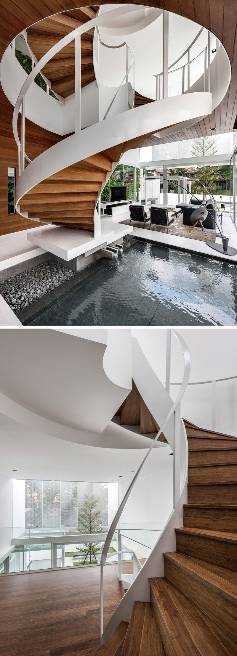 Best 16 Modern Spiral Staircases Found In Homes Around The 640 x 480
