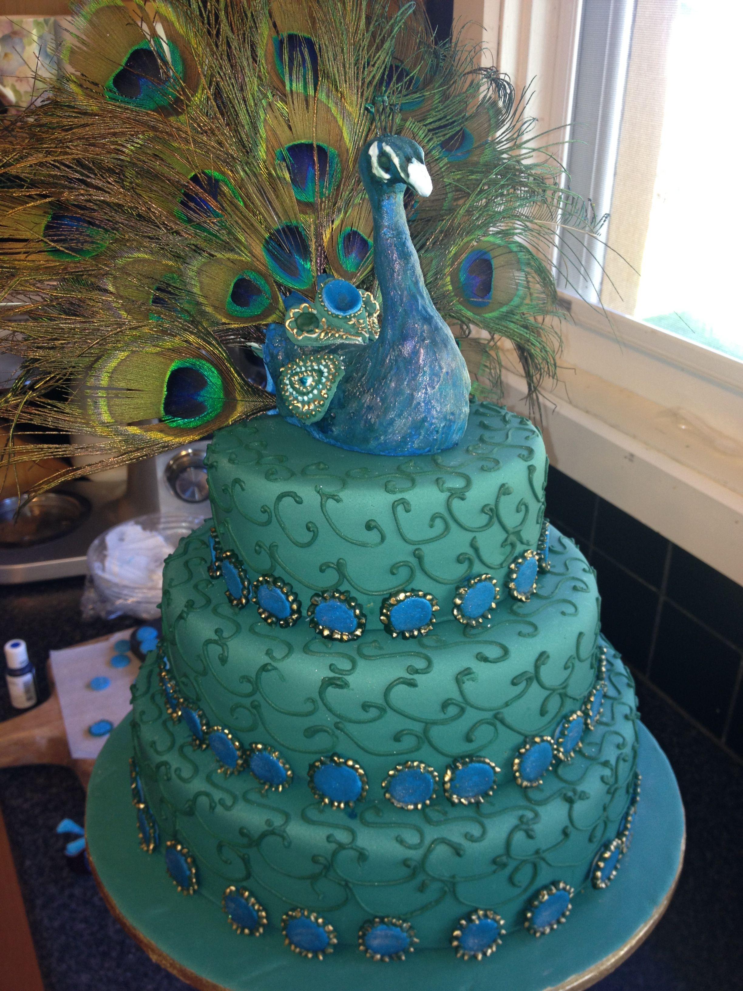 Peacock Wedding Cake.My Peacock Cake Cake Wedding Peacock Wedding Cake