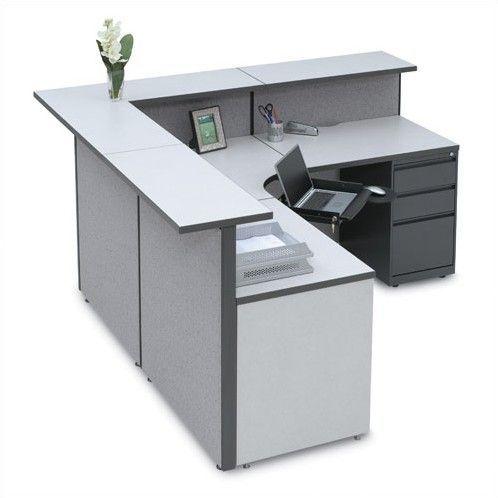 Storlie Large L Shape Reception Desk Receptionist Desk Modern Reception Desk Reception Desk