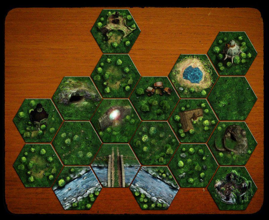 North Haven Fantasy Hex Map Tiles By Jhibbsdeviantartcom On