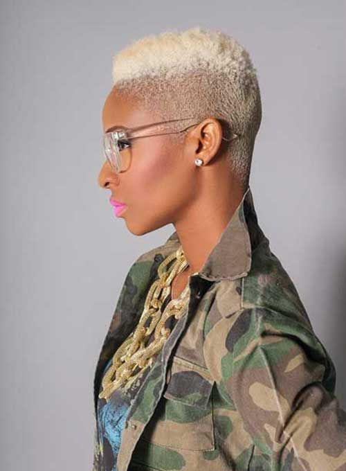 Blonde Dyed Short Hair Black Women | Hair | Pinterest | Blonde dye ...