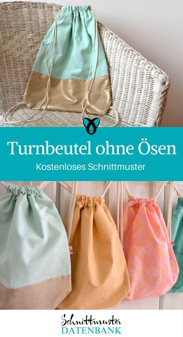 Turnbeutel ohne Ösen 5/5 (1)   Pinterest   Turnbeutel, Nähe und ...