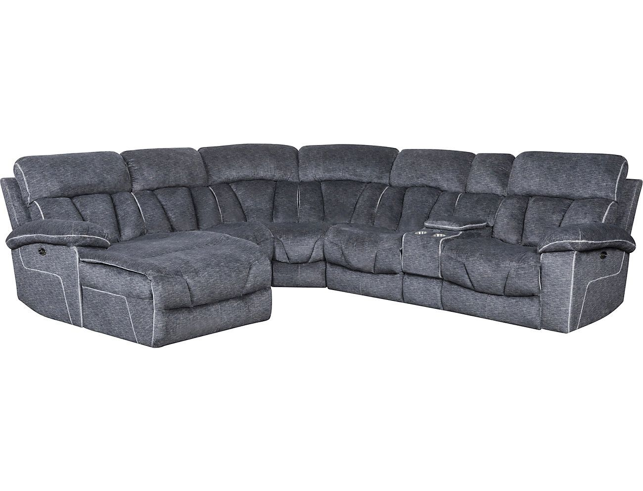 Outstanding Gladiator Charcoal 6 Piece Power Reclining Sectional With Uwap Interior Chair Design Uwaporg