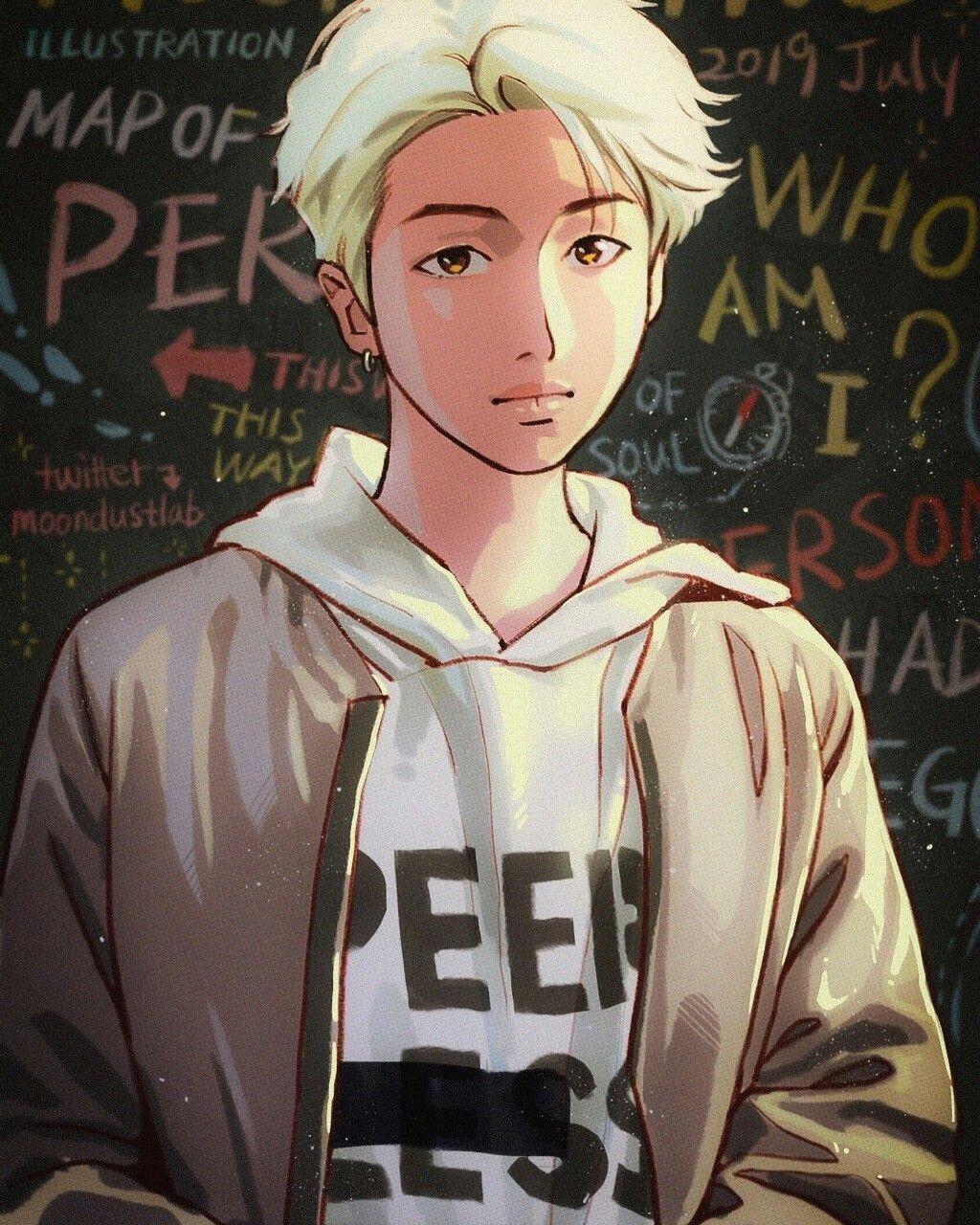 NJ || bts fanart | Bts Fanart | Pinterest | Fanart, BTS ... |Namjoon Bts Anime