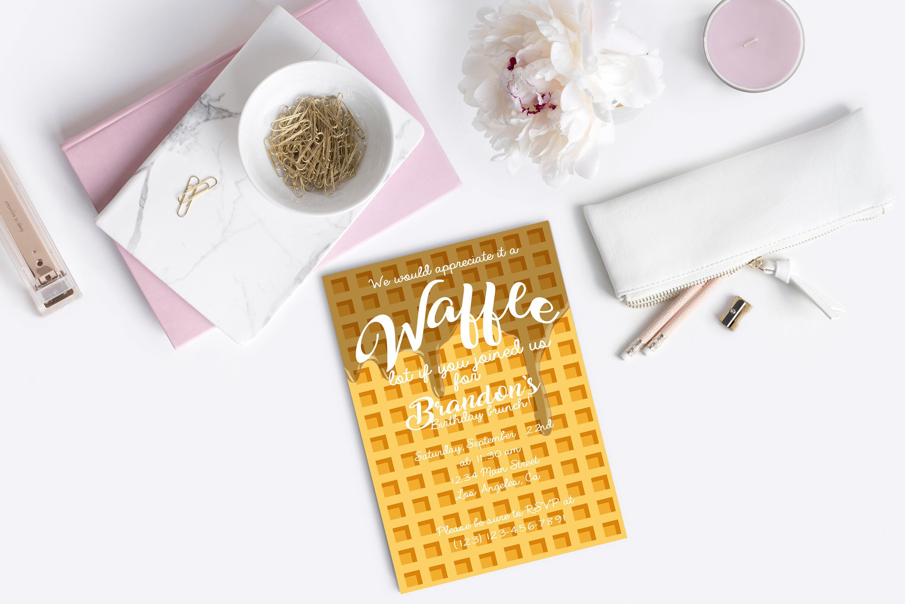 Waffle Party Birthday Brunch Waffle Invitation Waffle Birthday Waffle Invite Waffle Party Invite Breakfast Party Brunch Birthday Birthday Breakfast Party Breakfast Party Birthday Brunch