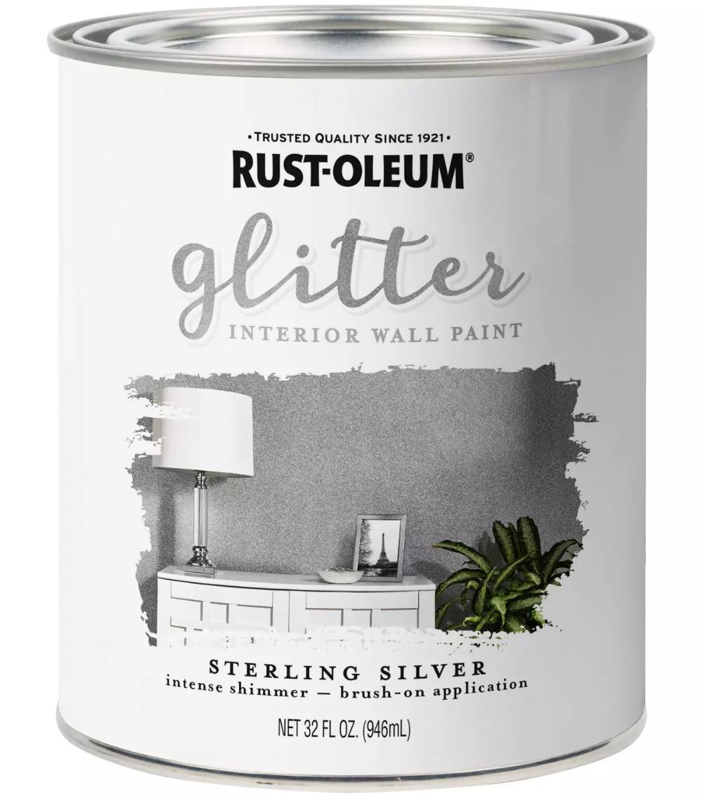 Rust Oleum 32 fl. oz Glitter Interior Wall Paint in 2020