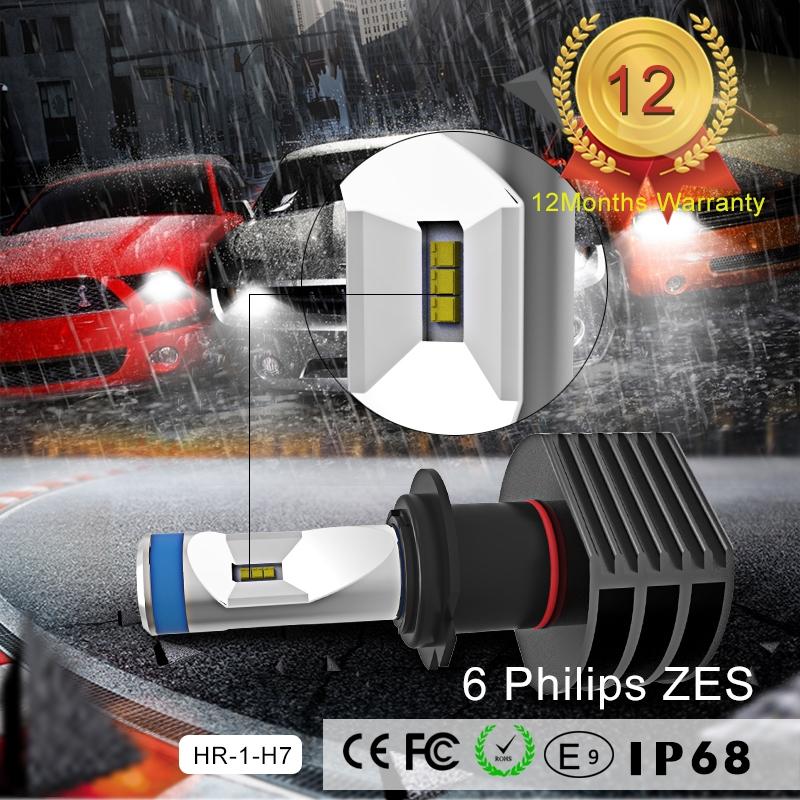 75.00$  Buy here - http://aliwyv.worldwells.pw/go.php?t=32755913776 - Free shipping !! KSEGA hot selling 40W 5000 lumen 6000k H7 H3 H4 H1 LED type 5S auto led headlight bulb for universal cars