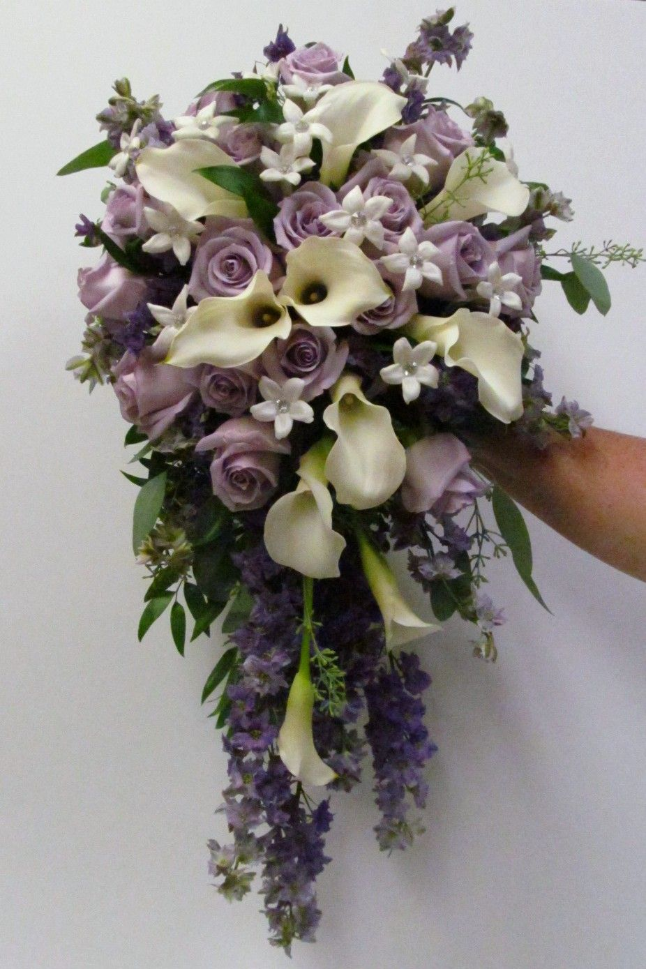 calla lilies, orchids and roses cascade bouquet - Google Search ...