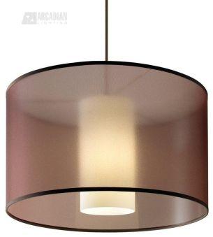 contemporary drum lighting. 2Thousand Degrees Dillon Modern / Contemporary Drum Pendant Light - 700TDDLNPW Lighting I
