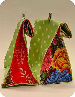 Oilcloth Lunch Bag Tutorial | SEWING | Pinterest | Diy anleitungen ...