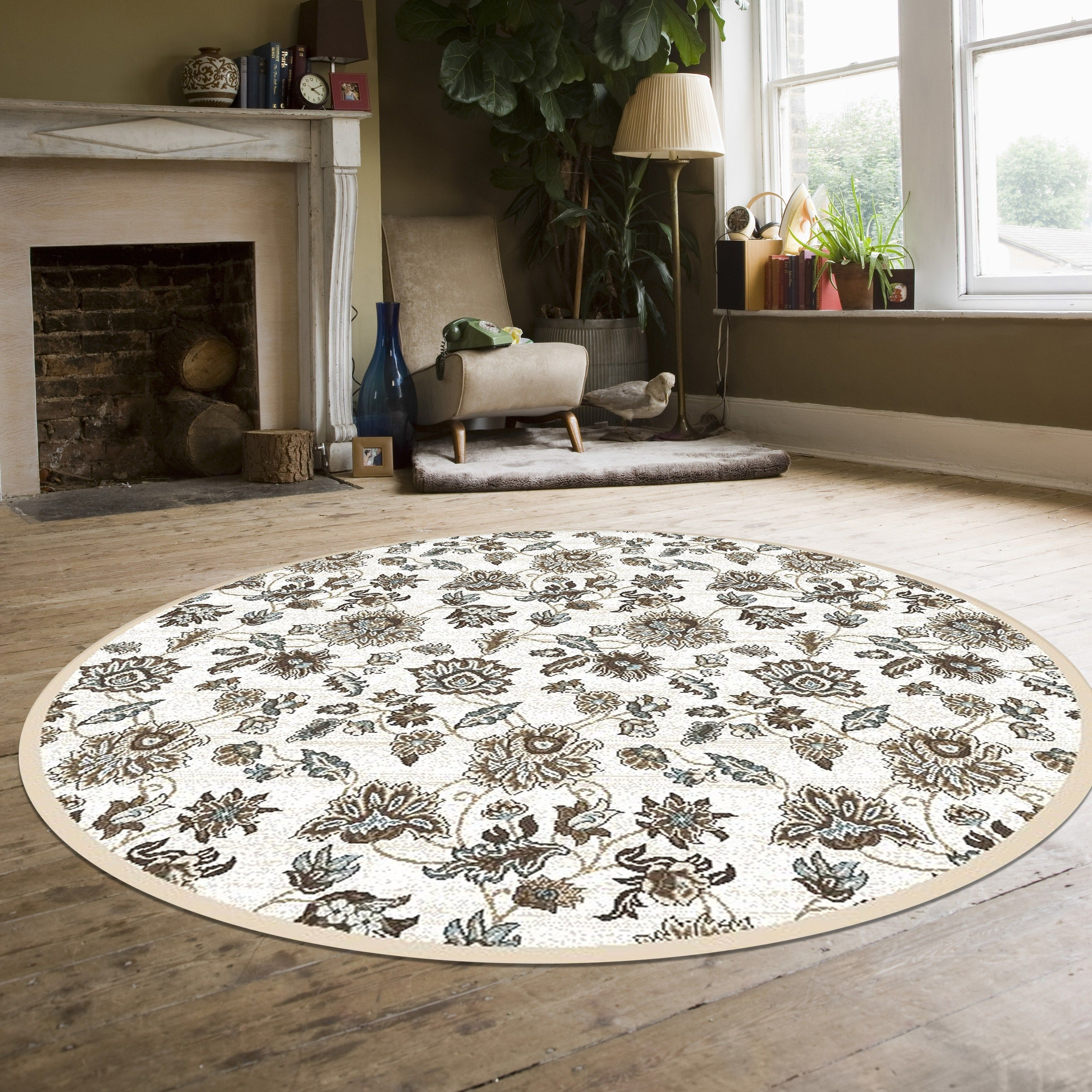 Plaza Floral Area Rug 5 3 Ivory Admire Home Living