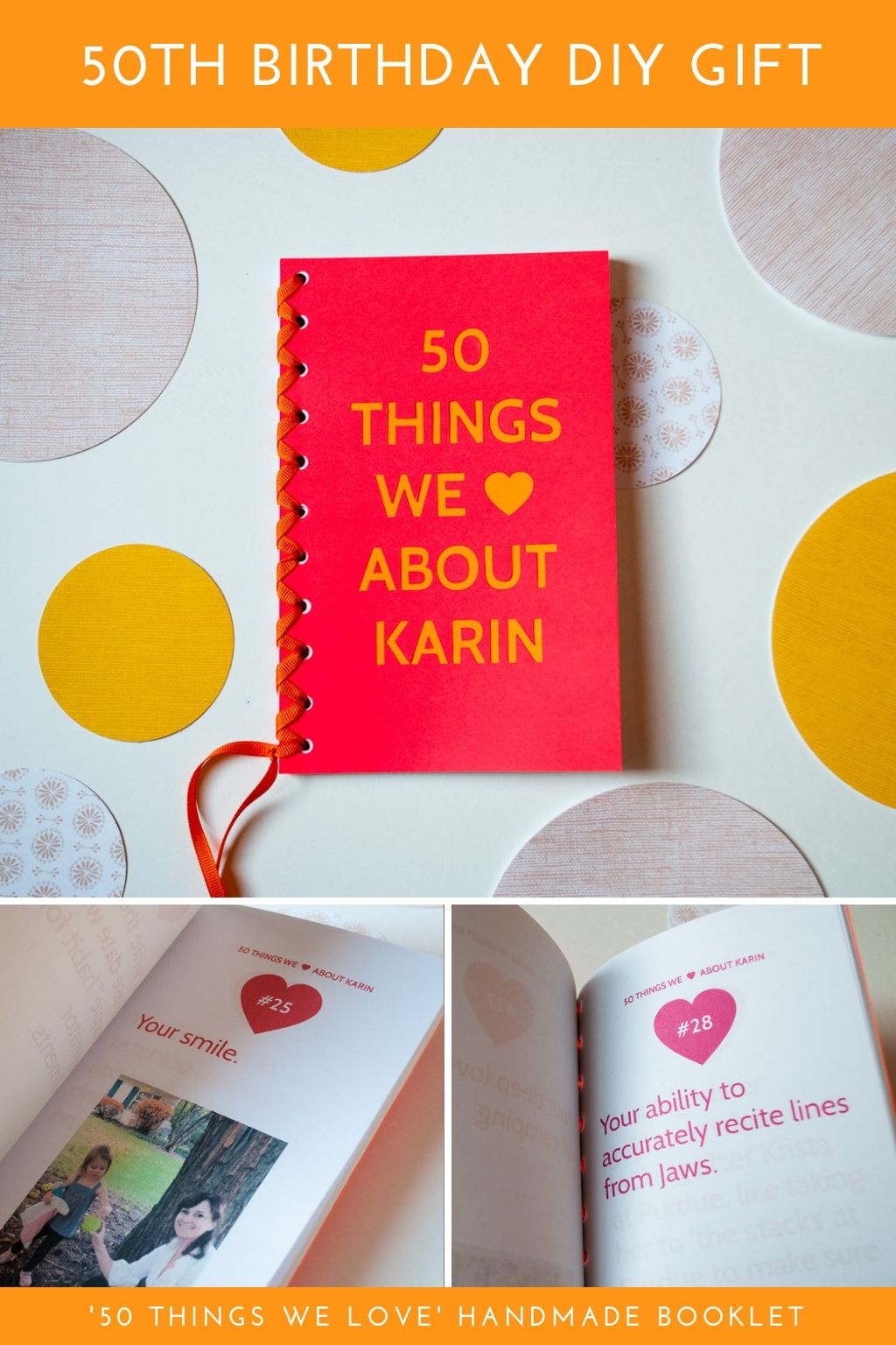 50 Things We Love About You Book 50th Birthday Diy Gift Idea Diy Birthday Gifts Birthday Diy Birthday Gifts For Brother