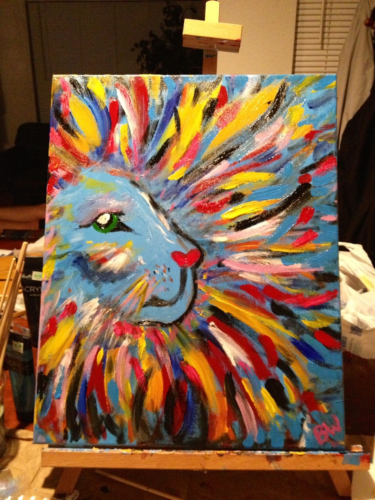 My Big Girly Lion Diy Canvas Painting Home Decor