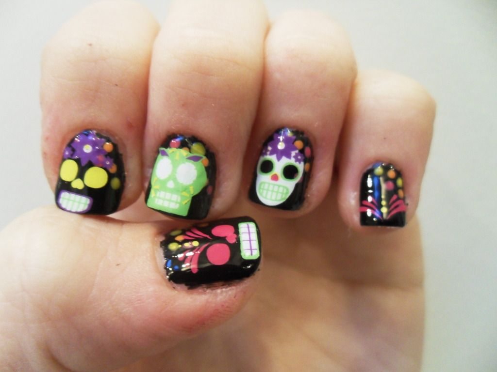 Claws up! dia de los muertos nails! | Claws up (My Nails ...