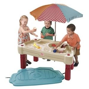 Step 2 Adjustable Sand And Water Table Tan Red Sand And Water