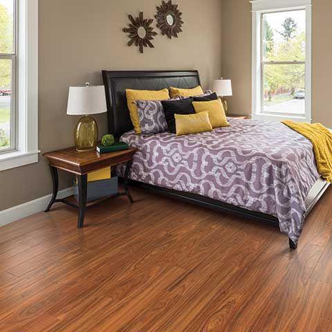 Paradise Jatoba Smooth Laminate Floor Blood Orange Color
