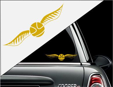 Golden Snitch Quiditch Harry Potter Decal Sticker For Cars