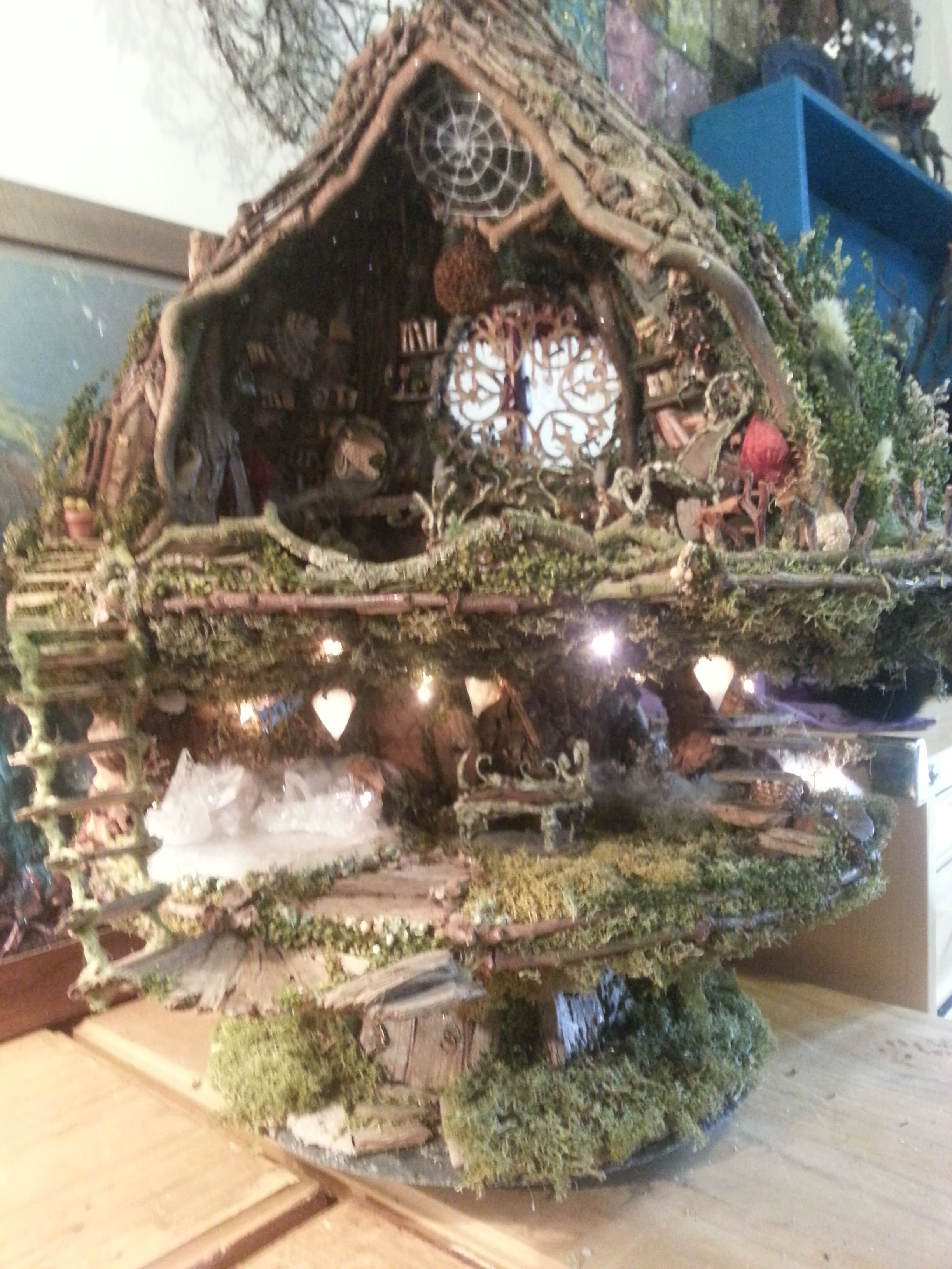 Fairy house A 1/12 scale fairy tree-house made of natural materials ...
