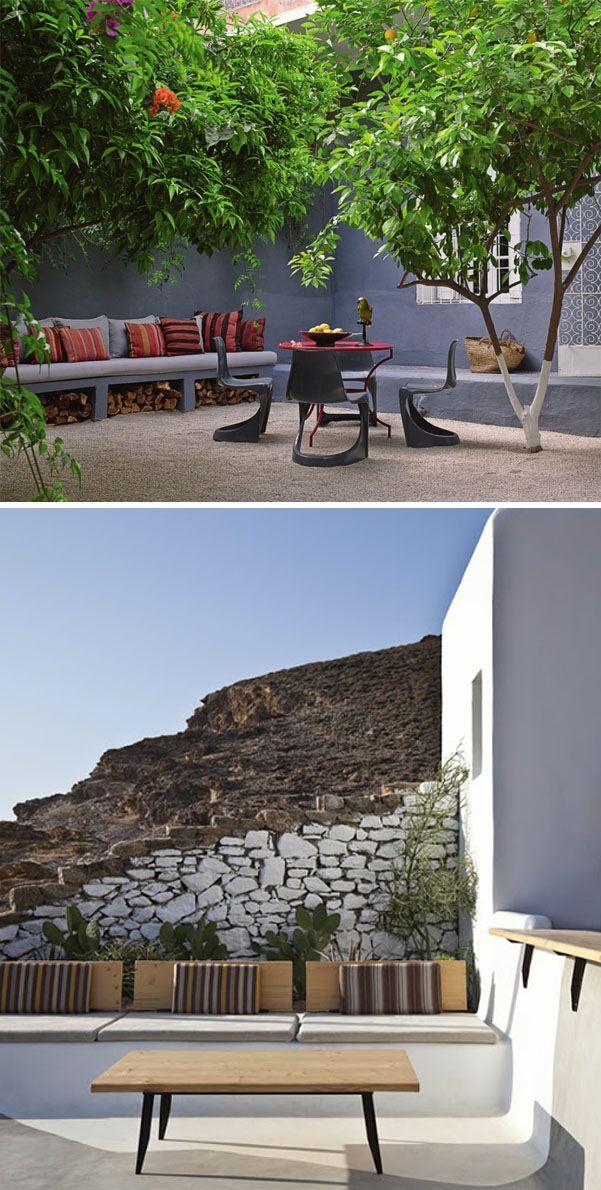 Bancos de obra exteriores i parte outdoors pinterest - Bancos para terraza ...