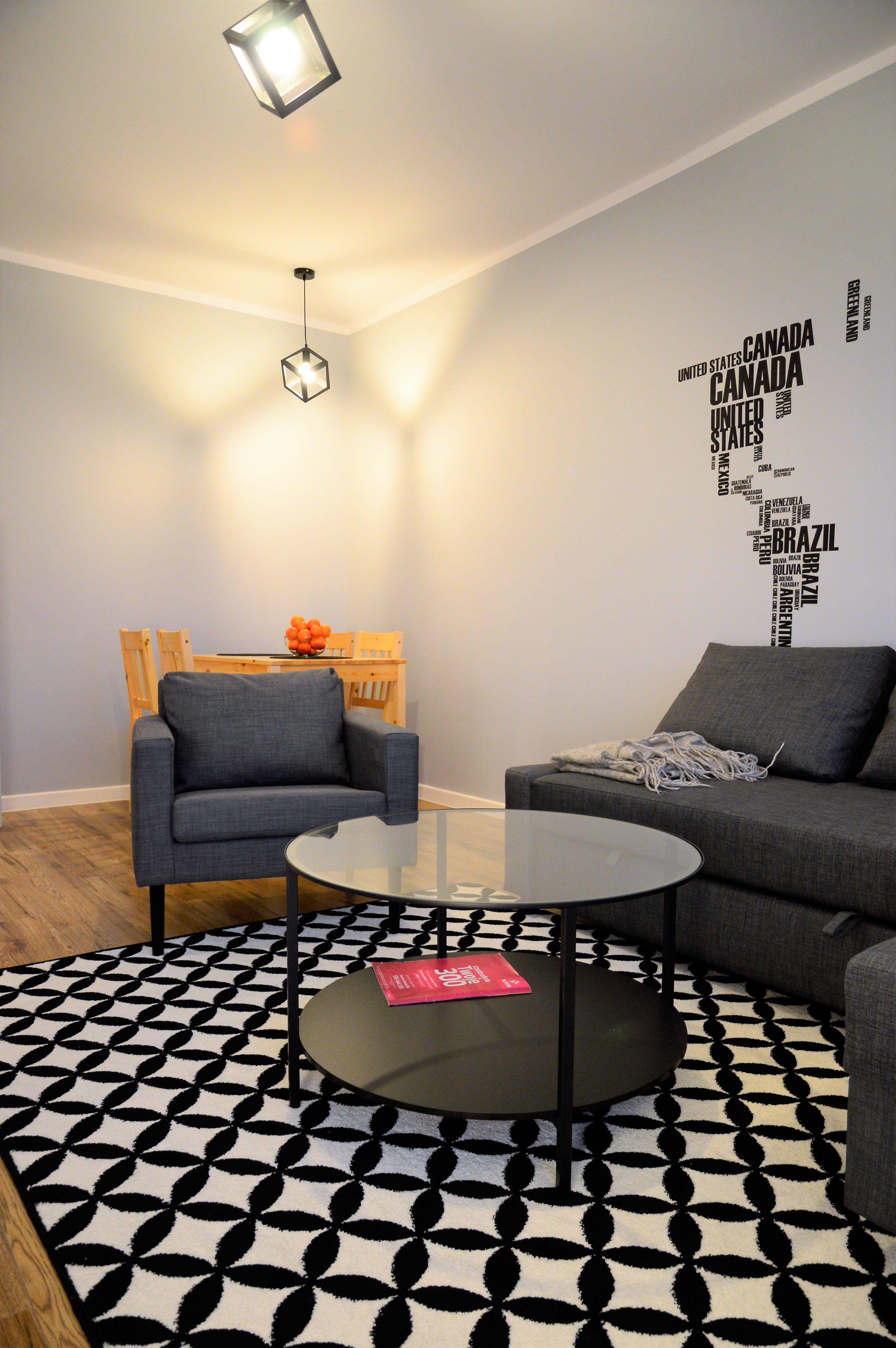 mieszkanie pod wynajem, salon, Ikea, mapa Ikea