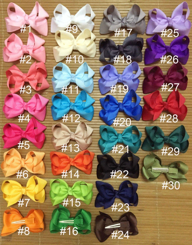 6 Pcs Grosgrain Ribbon Bow 5 Inch Alligator Clip Hair Bows for Baby Girl Toddler Kid color-1 Girls Hair Bow Hair Clip