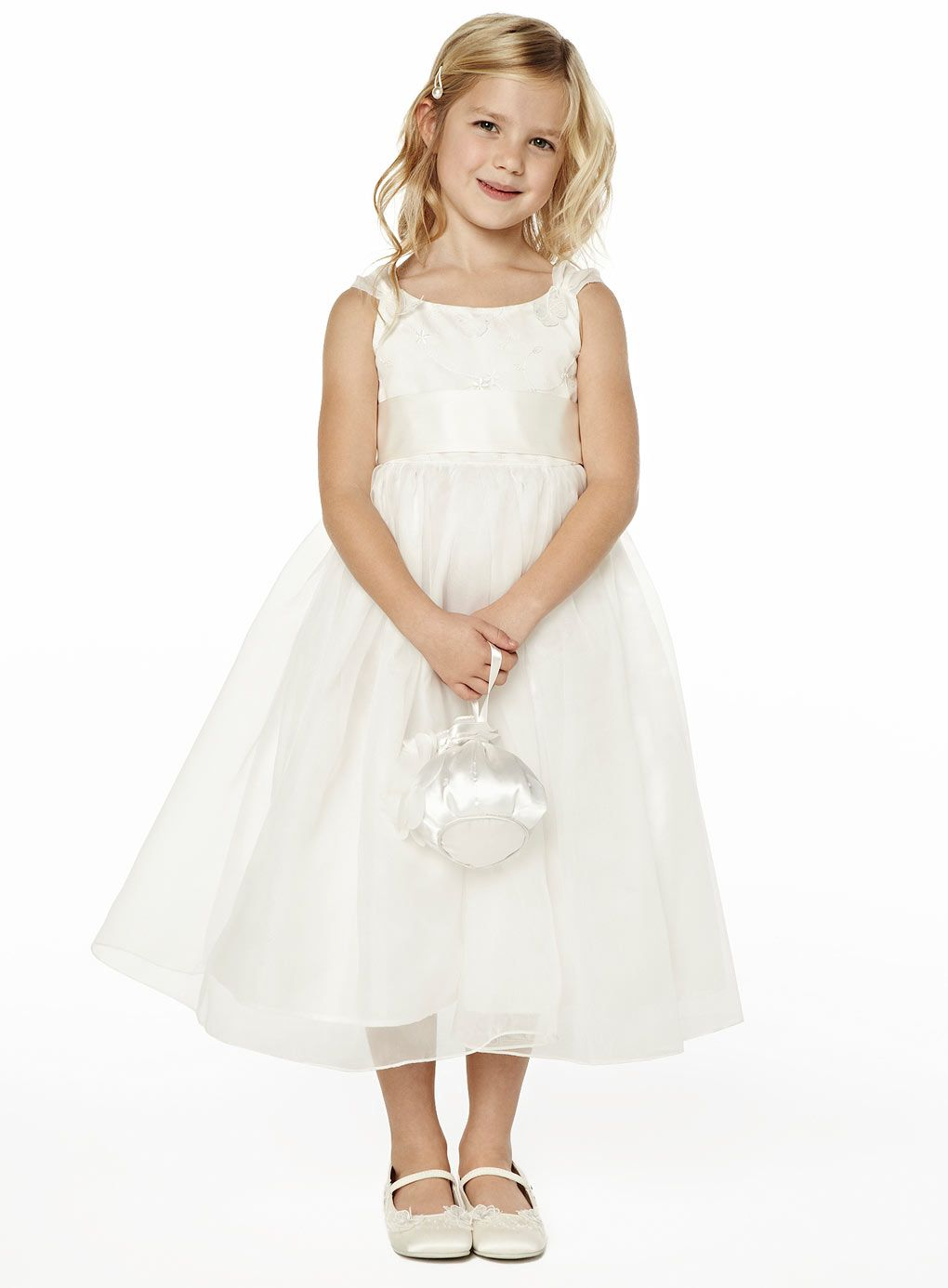 Isla ivory bridesmaid dress young bridesmaids wedding bhs isla ivory bridesmaid dress bhs and the name is significant too this is the dress i want for the girls and ill replace the ribbon with our organza ombrellifo Images