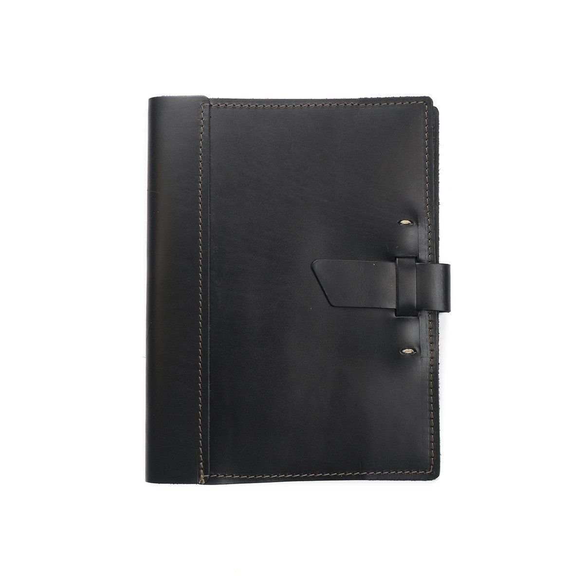 Large Leather Composition Notebook Cover With Buckle