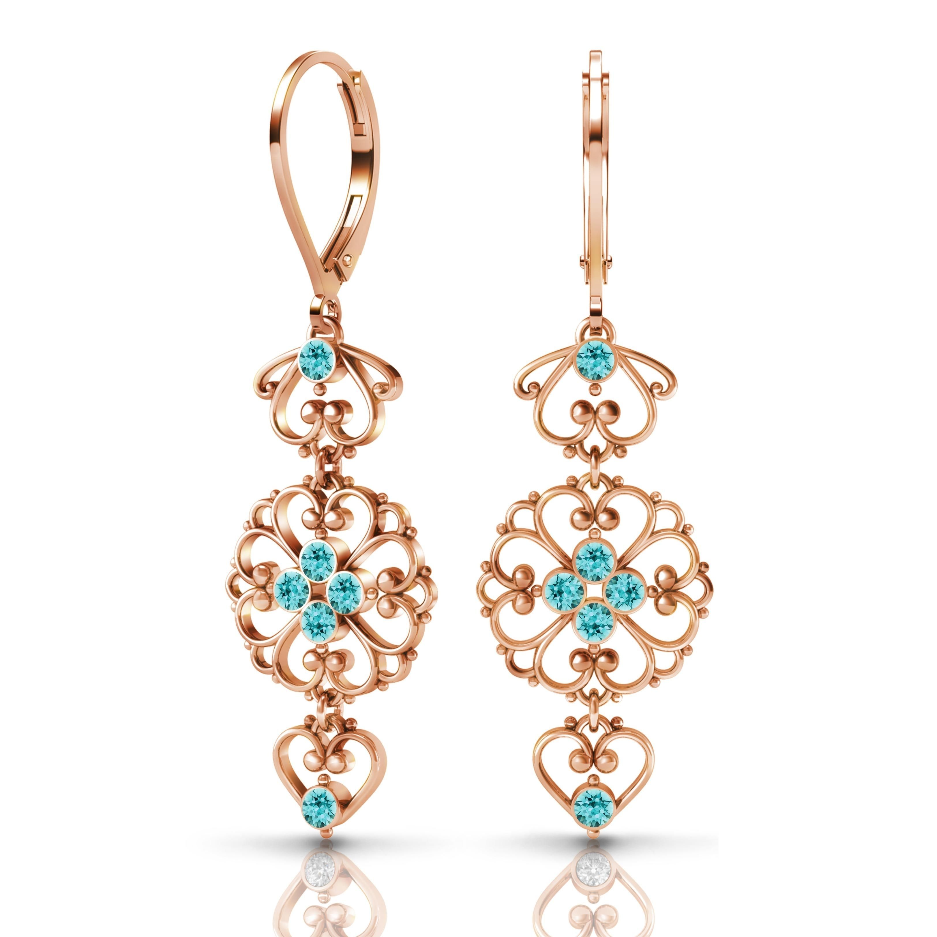 Sterling Silver Earrings by Lucia Costin Swarovski s