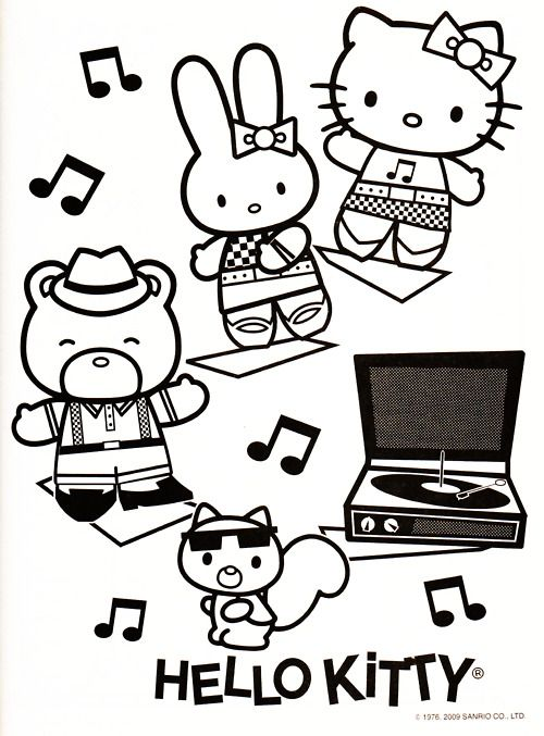 Sanrio Characters - Color Me | Hello Kitty Lovers | Pinterest ...