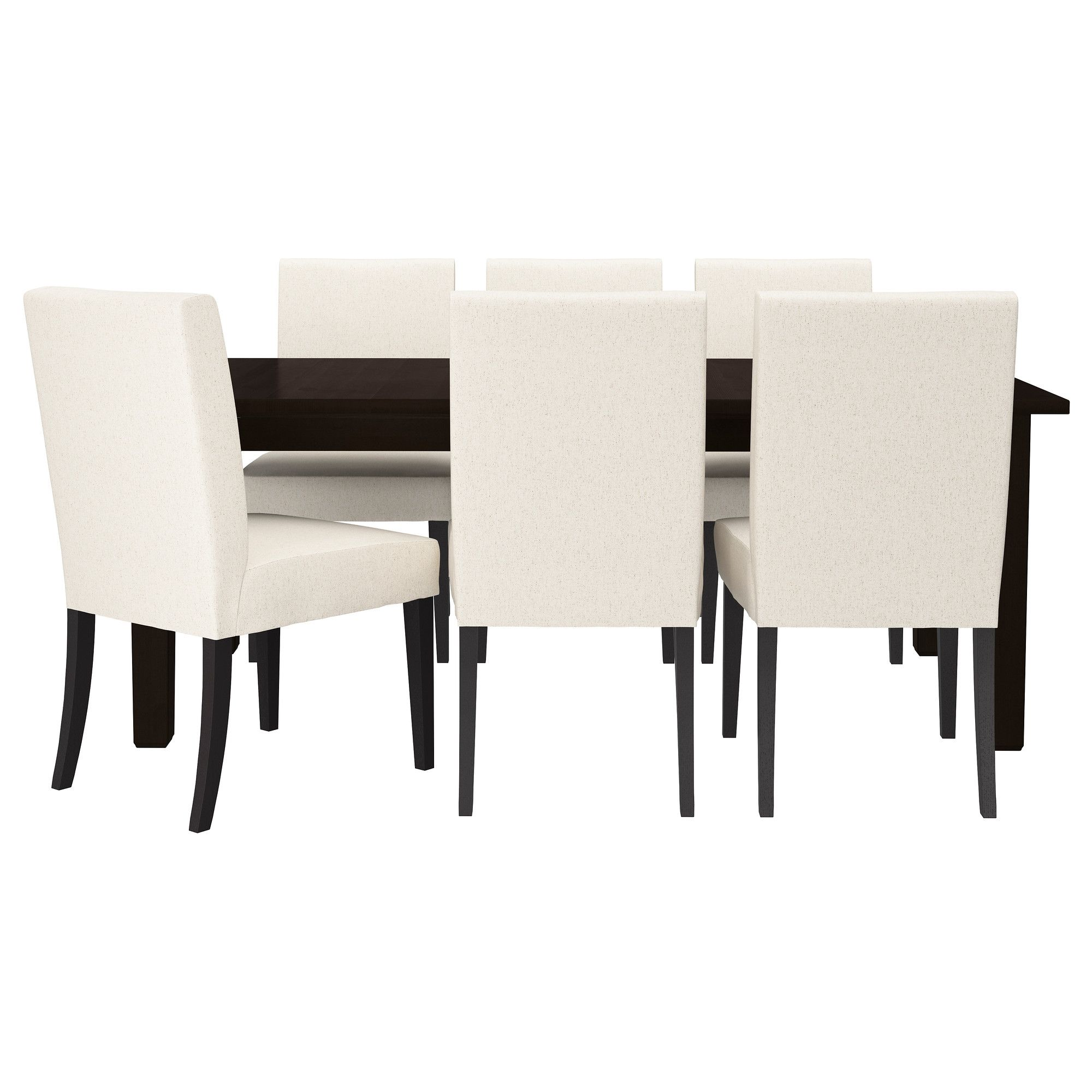 Stornäs  Henriksdal Table And 6 Chairs Brownblack Linneryd Gorgeous Ikea Dining Room Chairs Sale 2018