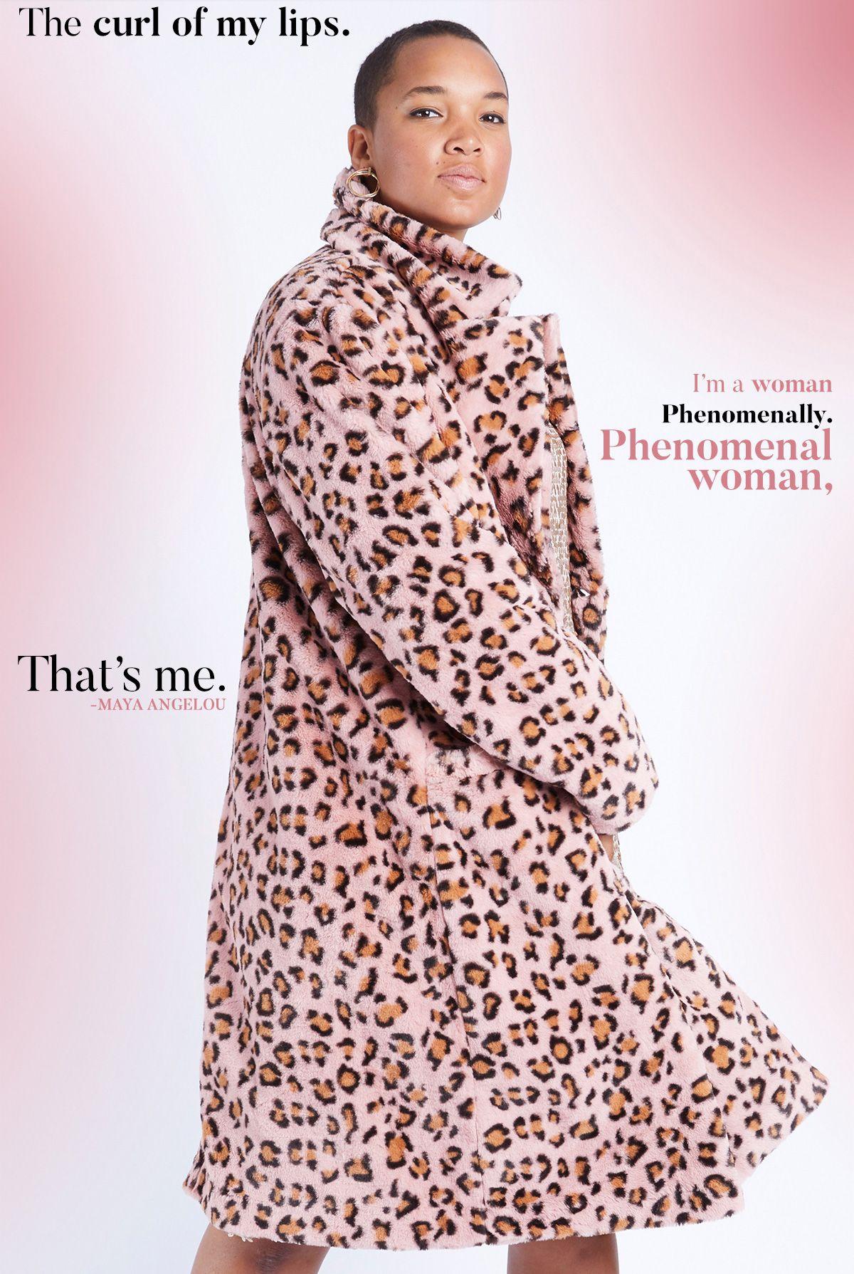c4e2d0e1c99 Faux Fur Leopard print coat by plus size designer Anna Scholz  plussize   plussizecoat  leopardcoat  pinkleopard fakefurcoat