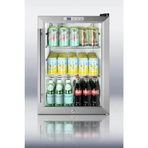 Summit Appliance 2 5 Cu Ft Glass Door Mini Refrigerator In Black Scr312l At The Home Depot Mobile Glass Door Glass Cabinet Doors Tempered Glass Door