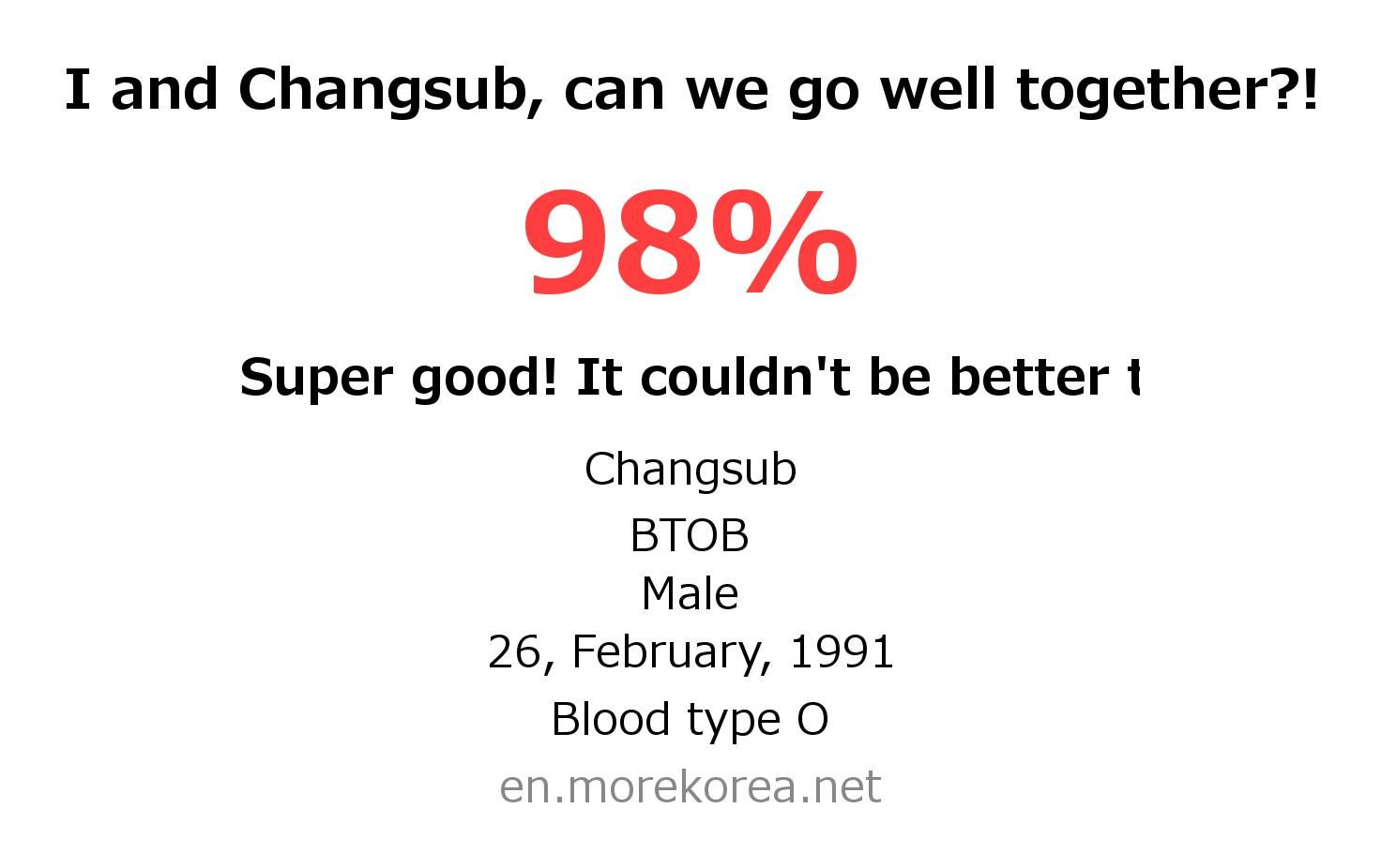 Kpop Idols Matching Fortune Check Changsub Btob Kpop Idol Btob Idol