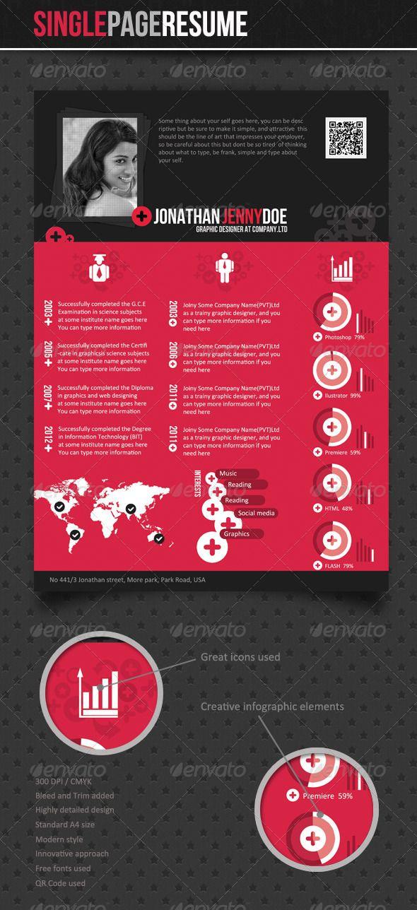 Geometric Style - Fancy Resume #GraphicRiver Waterfalls - fancy resume