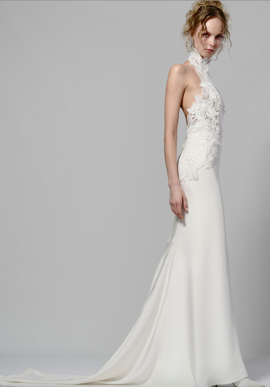 Halter Wedding Gown Wedding Dress With Halter Neckline Silk