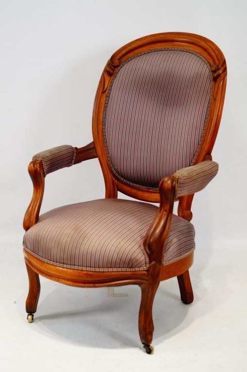 Late 19th cent. Victorian parlor chair : Lot 307