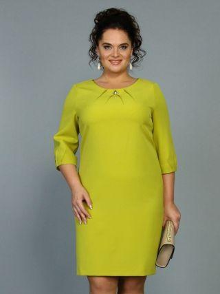 4f1f894e22853 Платье-футляр, горчичное – купить в интернет-магазине «L'MARKA»: доставка  по России
